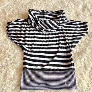 Guess Jeans XS Stripped Tank fold Over Neck.